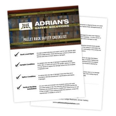 Warehouse Pallet Rack Safety Checklist