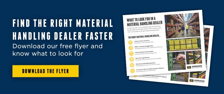 material handling dealer flyer cta