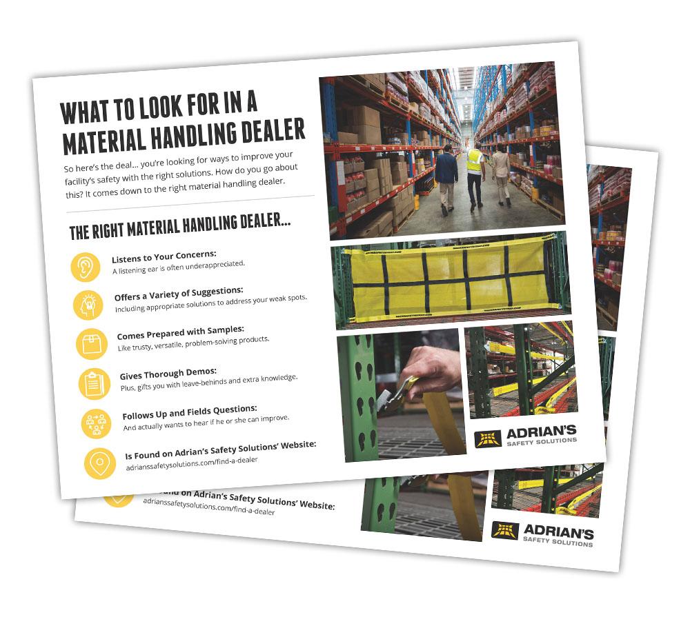 material handling dealer flyer
